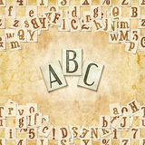 ABC background. Seamless background with letters . Linux Libertine fonts used in the image ( GPL  and OFL license Royalty Free Stock Image