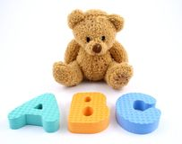 ABC Bear Royalty Free Stock Images
