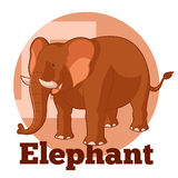 ABC-Beeldverhaal Elephant2 stock illustratie