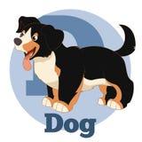 ABC-Beeldverhaalhond royalty-vrije illustratie