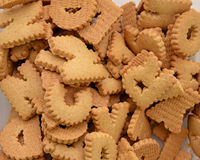 ABC biscuits background Stock Image