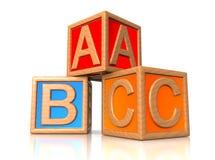 ABC-Blöcke. Stockbild