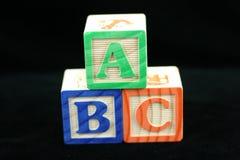 ABC-Blöcke. Lizenzfreie Stockfotos