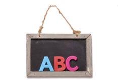 Abc black board cutout Stock Photos