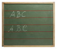 abc-blackboard Royaltyfri Foto
