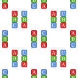 ABC blocca il modello senza cuciture dell'icona piana illustrazione di stock