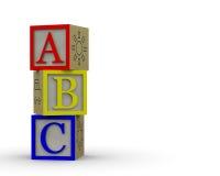 ABC-Block-Überlappen Stockfoto