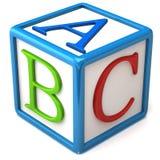 Abc block. Isolated on white background Royalty Free Stock Images