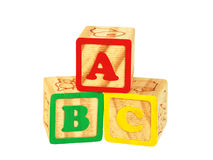 abc-block Royaltyfri Foto