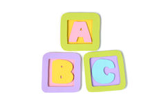 ABC block paper cut - isolated Royalty Free Stock Photography
