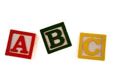 abc-block som lärer Arkivfoto