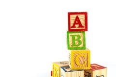 abc blockerar trä Royaltyfria Bilder