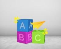 ABC blockiert Haufen Stockfotos