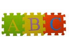 abc-blockpussel Arkivbild