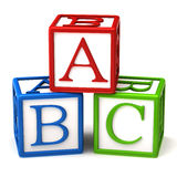 Abc blocks. Isolated on white background Royalty Free Stock Photography