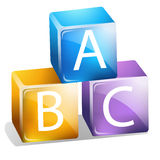ABC Blocks Royalty Free Stock Image