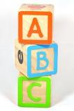 ABC Blocks. ABC building blocks on isolated white background Stock Photos