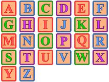 ABC Blocks. A set of colored alphabet blocks Stock Image