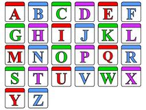 ABC Blocks. A set of colored alphabet blocks Royalty Free Stock Photo