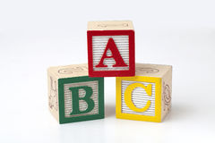 ABC Blocks. On a white background Stock Image