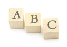 ABC Blocks. Home made blocks spell out the ABC's Royalty Free Stock Image
