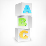 ABC blocks color Royalty Free Stock Image