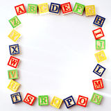 ABC Blocks with copy space Royalty Free Stock Images
