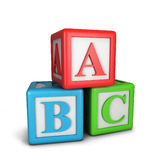 Abc blocks. 3d illustration  on white background Royalty Free Stock Photography