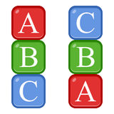 ABC Blocks Flat Icon Isolated on White royalty free illustration