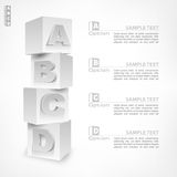 ABC blocks infographic Stock Photo