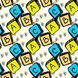 Abc blocks seamless pattern Royalty Free Stock Photos