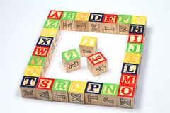 ABC blocks on white background Stock Photo
