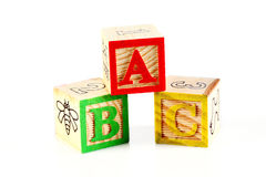 ABC blocks on white Royalty Free Stock Photography