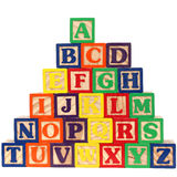 ABC Blocks A-Z. Close-up of ABC blocks A-Z on white background. Shot with a Canon 20D Royalty Free Stock Photos