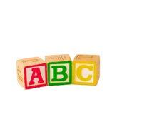 ABC blokkeert Vlakte Stock Foto