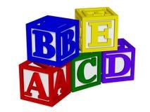 ABC bloque 3d Photos stock