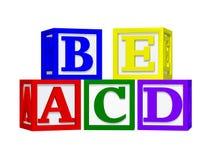 ABC bloque 3d Images libres de droits