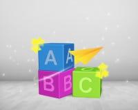 ABC bloquea el montón Fotos de archivo