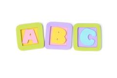 ABC bloquea el papel cortado - aislado Fotografía de archivo libre de regalías