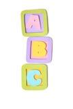 ABC bloquea el papel cortado - aislado Foto de archivo libre de regalías