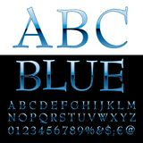 Abc blue letters. Blue alphabet, blue letters, vector illustration Royalty Free Stock Image