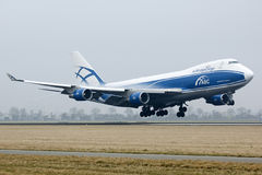 ABC boeing 747 cargo plane landing Royalty Free Stock Photos