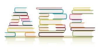 Abc- Boeken Stock Afbeelding