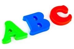 abc-bokstäver Arkivfoton