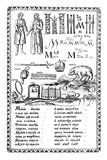 The ABC-book. Collection of engravings of Karion Istomin. The ABC-book of Carion Istomin of 1694. Moscow royalty free illustration