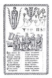 The ABC-book. Collection of engravings of Karion Istomin. The ABC-book of Carion Istomin of 1694. Moscow stock illustration