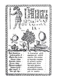 The ABC-book. Collection of engravings of Karion Istomin. The ABC-book of Carion Istomin of 1694. Moscow Royalty Free Stock Photos