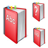 ABC book icon. Vector illustration of ABC book icon Royalty Free Illustration
