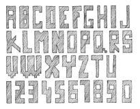 ABC bosquejado ilustración del vector