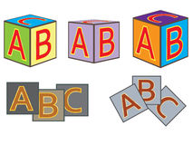 Abc bricks Stock Images